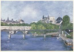 75 Paris Le Pont Des Arts (2 Scans) - Puentes