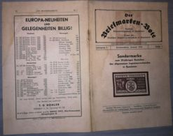 THE STAMP MESSENGER- DER BRIEFMARKEN BOTE MAGAZINE, GERMAN, HERMANNSTADT-SIBIU, NR 1, JANUARY 1944, ROMANIA - Riviste