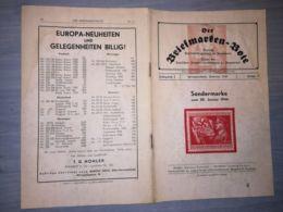 THE STAMP MESSENGER- DER BRIEFMARKEN BOTE MAGAZINE, GERMAN, HERMANNSTADT-SIBIU, NR 2, FEBRUARY 1944, ROMANIA - Riviste