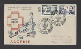 ALGERIE.  N° 316/317  Oblitération 1er Jour.  30-10-1954 - FDC