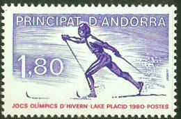 Andorra French Post 1980 Langlauf Ski Lake Placid Olympics 1980 1 Value MNH Winter Games, Cross Country Skiing - Winter 2002: Salt Lake City
