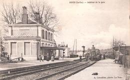 Noyen  (72 - Sarthe) Arrivée Du Train - La Gare - France