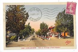 DIGNE Les BAINS  (cpa 04)  Hôtel De L'ermitage Et Route Napoléon    -  L 1 - Digne