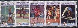 //// Lesotho Yvert 1032 / 1036** Michel 990 / 994** - Ete 1992: Barcelone
