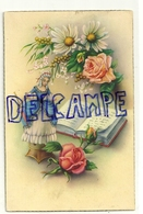 Danseuse Sur Une Boite à Musique Roses, Livret, Marguerites, Mimosa. C.yZ. - Jeux Et Jouets