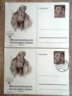 DR Ganzsachen 6+4 Pfg. WHW 1938/1939 Ungebraucht/Stempel Quedlingburg - Deutschland