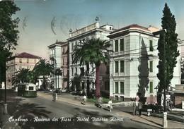"""2245 """" SANREMO-RIVIERA DEI FIORI-HOTEL VITTORIA ROMA-FILOBUS,DISTRUBUTORE,AUTO ANNI '50 """" CART.POST. ORIG.ANIMATA SPED. - San Remo"""