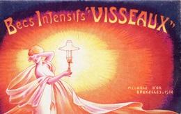 """CARTE PUBLICITAIRE  BECS INTENSIFS  """"VISSEAUX"""" MEDAILLE D'OR BRUXELLES 1910 - Werbepostkarten"""