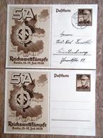 DR Ganzsachen 6 Pfg. SA Reichswettkämpfe 1938 Ungebraucht/Stempel Quedlingburg - Deutschland
