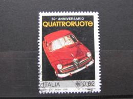 *ITALIA* USATI 2006 - QUATTRORUOTE - SASSONE 2866 - LUSSO/FIOR DI STAMPA - 6. 1946-.. Repubblica