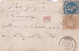 France - Y&T 28 Et 29 Sur Lettre De Dives (Calvados) à Louvain (Belgique) - 1849-1876: Classic Period