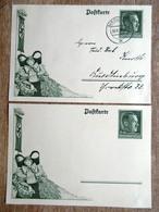 DR Ganzsachen 6+19 Pfg. Hitler Ungebraucht/Stempel Quedlingburg - Deutschland