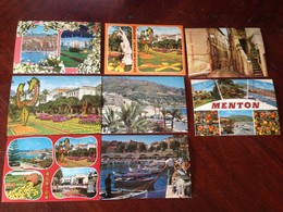 Cartolina Mentone Lotto Di 8 Cartoline NVG - Cartoline