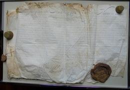 Rouen-Varengeville, Actes Sur Parchemin 1739 Jean Vulfran De La Saussaie - Documentos Históricos