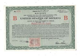 UNITED STATES OF MEXICO B  Timbre Taxes Fiscales Belgique - Actions & Titres
