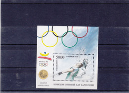 TADJIKISTAN 1992  Jeux Olympiques De Barcelone Surchargés Yvert BF 1 NEUF** MNH - Tadjikistan