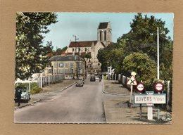 CPSM Dentellée - AUVERS-sur-OISE (95) - Aspect Des Voitures Rétros Et De L'entrée Du Bourg Dans Les Années 60 - Auvers Sur Oise