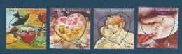 Timbres Neufs** De Turquie, N°3730-3 Michel, Fête Des Mères 2009,  Forme De Coeurs, Bébé, Mère, Nid D'oiseau, Mains - 1921-... República
