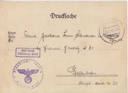 2 Postkarte Pré-imprimée De La Finanzamt Obl Saverne (T325 Zabern C) En Franchise Le 28/1/42 Pour Pfaffenhoffen - Alsace-Lorraine