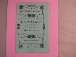 Tours Catalogue 1920/21 E. RIVALANT 75 Av. De Grammont 32 Pages 14X21 Excellent Etat - 2. Graines