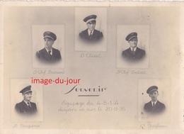 Photo Ancienne  Equipage Du 4-B-1-4 Disparu En Mer Le 20 Novembre 1936 Aviateur Aviation - Aviation