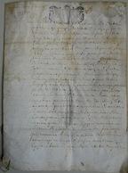 Besançon, Acte Sur Parchemin, 1695 - Documents Historiques