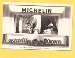 """Carte Postale En Noir & Blanc """" Stand MICHELIN Au Salon De L'auto """" - Publicité"""