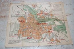 Plan Ancien De La Ville D'Amsterdam Format 56cm/45cm - Carte Geographique