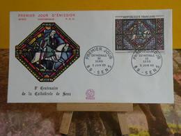 Cathédrale De Sens - 89 Sens - 5.6.1965 FDC 1er Jour N°535 - Coté 6€ - 1960-1969