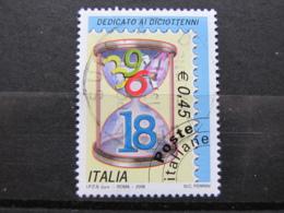 *ITALIA* USATI 2006 - DEDICATO AI DICIOTTENNI - SASSONE 2863 - LUSSO/FIOR DI STAMPA - 6. 1946-.. Repubblica