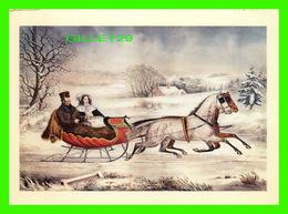 ARTS, PEINTURES - THE ROAD, WINTER BY KNIRSCH FOR NATHANIEL CURRIER 1853 - 1992 DOVER PUB. INC - - Peintures & Tableaux