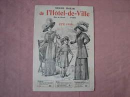 Bazar De L'Hotel De Ville  3 Catalogues 1910- 1909,  Voir Photos - Habits & Linge D'époque
