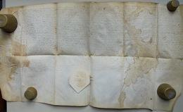 Besançon, Acte Sur Parchemin, 17e Siècle - Documents Historiques