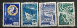Année Géophysique Internationale (Glacier Survey,plane Over Antarctica,etc) Série Complète 1959 Neufs ** - International Geophysical Year