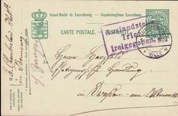 1916 Carte Postale, Cachet Censure: Auslandstelle Trier Freigegeben, Cachet Luxembourg 7.11.1916, 2Scans - Occupation