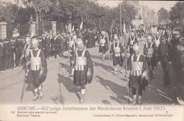 Asse Assche 600 Jarige Jubelfeesten Der Mirakuleuze Kruisen 1912 Nr 14 Keizerlijke Wacht Te Voet ( Champetter ) - Asse