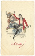 À La Vôtre Champagne Party Couple Cheers C1902 - MM Vienne - Couples