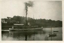 PHoto D'une Vedette Touristique Naviguant Sur Un Canal Semble De Briare Le 4 Septembre 1924 A Identifier - Bateaux