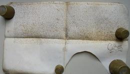 Besançon, Acte Sur Parchemin, 1653 - Documents Historiques