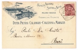 Cartolina - Postcard / Viaggiata - Sent / Pubblicitaria – Saponi – Ditta Calamari-Chizzoni E Marazzi – Milano - Bovisa - Publicité