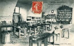 Carte Postale Ancienne Figeac Collège Champollion Ateliers Professionnels 1913 - Figeac