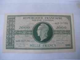 1000F MARIANNE TYPE 1945 LETTRE D - Trésor