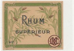 970 -/ ETIQUETTE  DE RHUM- SUPERIEUR - Rhum