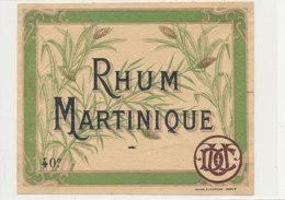 971-/ ETIQUETTE  DE RHUM- MARTINIQUE - Rhum