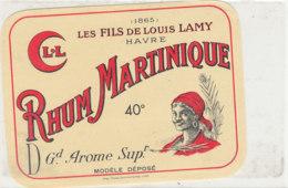 973  / ETIQUETTE  DE RHUM- MARTINIQUE  LOUIS LAMY  LE HAVRE - Rhum
