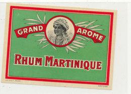 974  / ETIQUETTE  DE RHUM- MARTINIQUE  GRAND AROME - Rhum