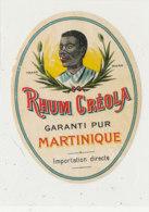 976  / ETIQUETTE  DE RHUM- CREOLA  MARTINIQUE - Rhum