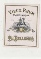 977  / ETIQUETTE  DE RHUM-  VIEUX   MARTINIQUE  TH. BELLEMER - Rhum