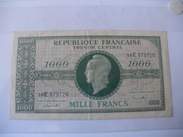 1000F MARIANNE TYPE 1945 LETTRE E - Trésor