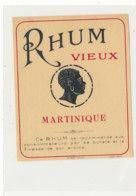 983  / ETIQUETTE  DE RHUM- VIEUX  MARTINIQUE - Rhum